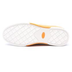 Scarpe rialzate pelle gialla Cornelio