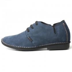 scarpe rialzate scamosciate blu uomo