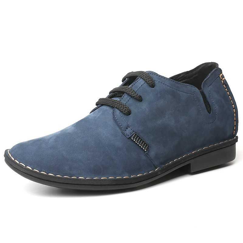 scarpe rialzate scamosciate blu