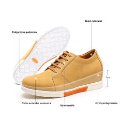 Scarpe con rialzo pelle gialla