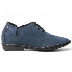 scarpe con rialzo uomo blu scamosciate
