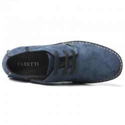 scarpe rialzate scamosciate blu 6 cm