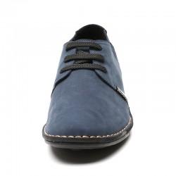 scarpe con rialzo uomo blu scamosciate 6 cm