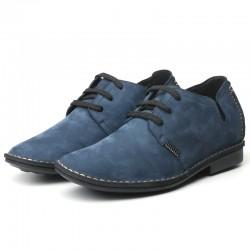 scarpe rialzate scamosciate blu uomo cleto