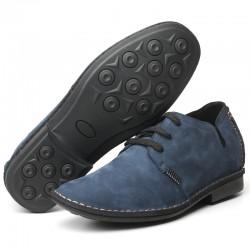 scarpe con rialzo uomo blu scamosciate Cleto