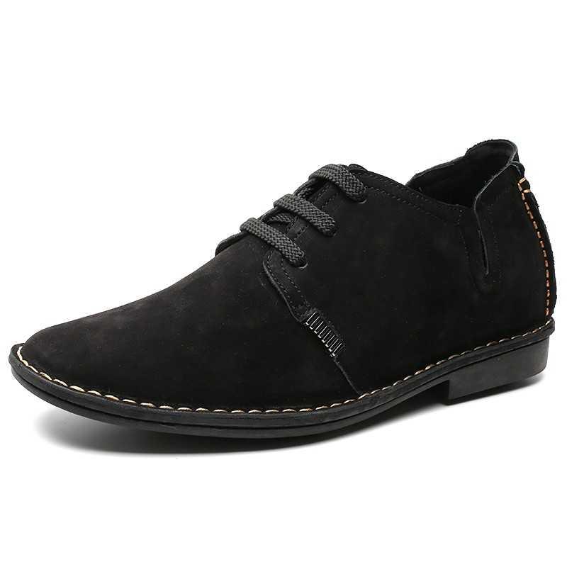 Scarpe rialzate nere scamosciate