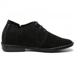 Scarpe rialzate scamosciate nere