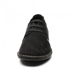 Scarpe con rialzo scamosciate nere