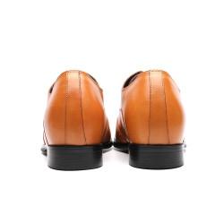 Scarpe eleganti marrone chiaro con rialzo