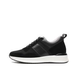 Scarpe con rialzo nere sportive