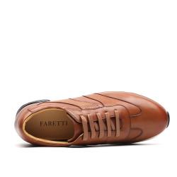 Scarpe con rialzo marroni sportive