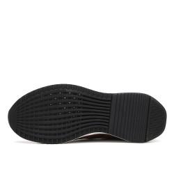 Scarpe con rialzo sportive marroni 7 cm