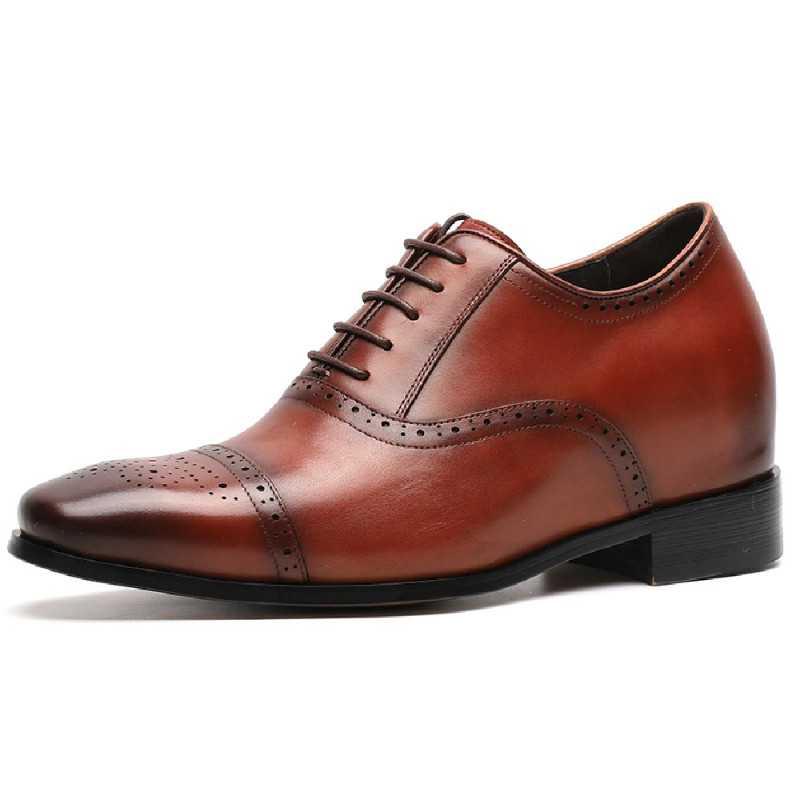 Scarpe con rialzo eleganti marroni