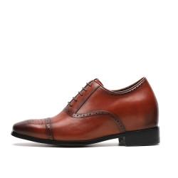 Scarpe rialzate eleganti marroni