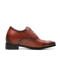 Scarpe rialzate eleganti uomo marroni