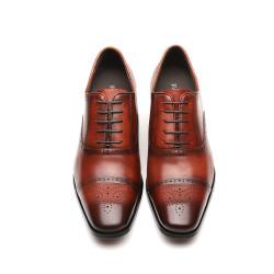 Scarpe rialzate eleganti uomo marroni Teodoro