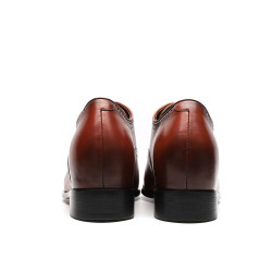 Scarpe con rialzo eleganti marroni 8 cm