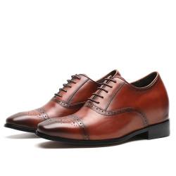 Scarpe rialzate eleganti marroni 8 cm
