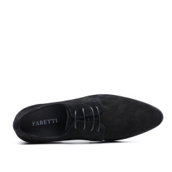 scarpe nere con rialzo 8 cm