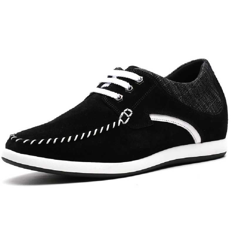 scarpe rialzate casual nere