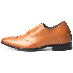 Scarpe con rialzo eleganti marrone chiaro