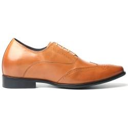 Scarpe eleganti marrone chiaro rialzate