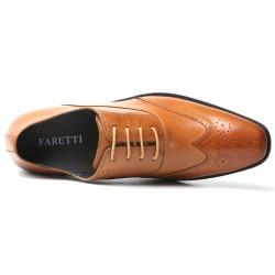 Scarpe rialzate eleganti marrone chiaro Virgilio