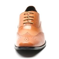 Scarpe rialzate eleganti marrone chiaro 7,5 cm