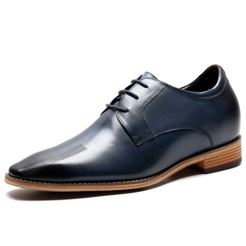 scarpe rialzate pelle blu