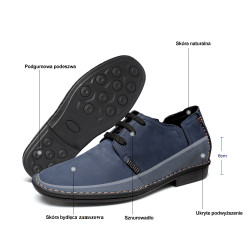 scarpe scamosciate blu uomo