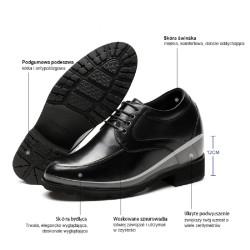 Scarpe rialzate eleganti 12 cm per uomo