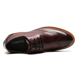 Scarpe eleganti uomo rialzate oxford 7 cm