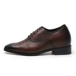 Scarpe con rialzo marrone scuro