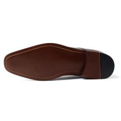 Scarpe con rialzo interno marrone scuro Paolo