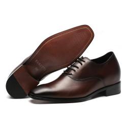 Scarpe rialzate marrone scuro 7 cm